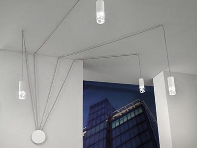 Neon Sospensione Per Ufficio.Erreluce Genova